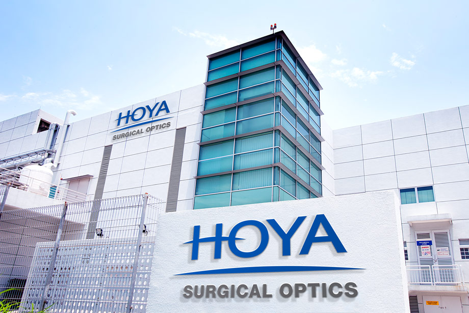 HOYA Company building with HOYA sign